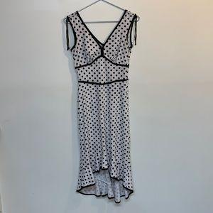 Rampage dress size S black poka dots tie shoulders